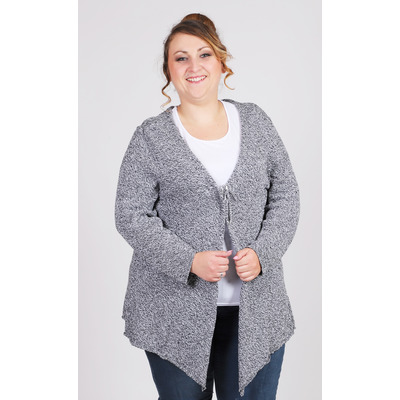 Gilet long gris chiné