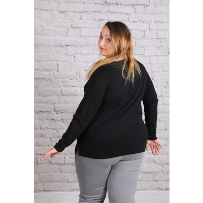 Polo avec col blanc grande taille femme curvy